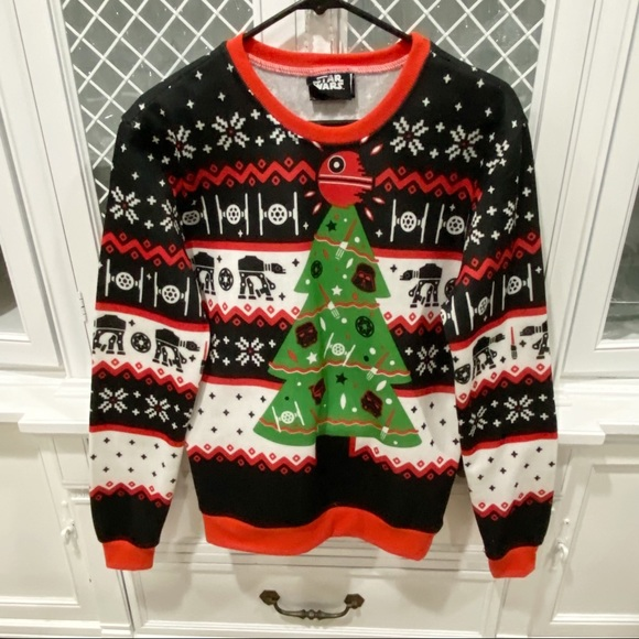 Star Wars Ugly Christmas Sweater Stormtrooper S